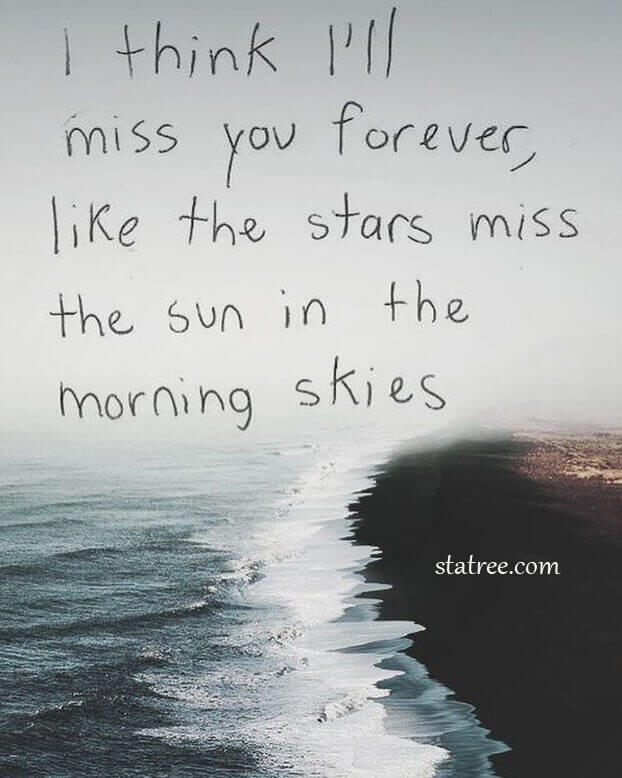 i think i'm miss you forever