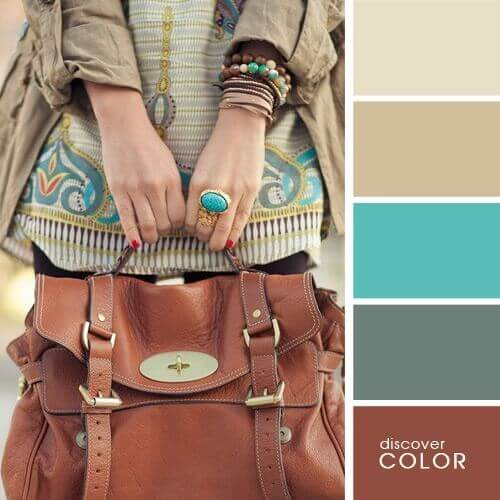 Brown and Turquoise