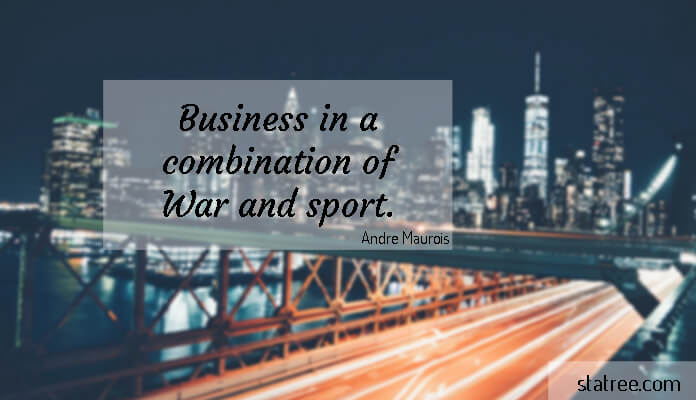 Business in a combination of War and sport.
