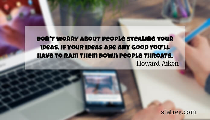 Don't worry about people stealing your ideas. If your ideas are any good you'll have to ram them down people throats