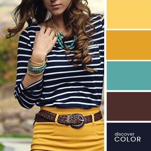 Marine colors and shades of yellow
