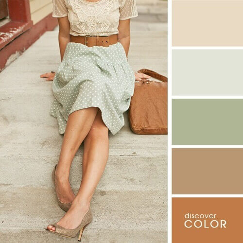 Retro style with shades of beige